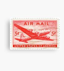 Stamp - USA - Airmail - 5 Cent Canvas Print