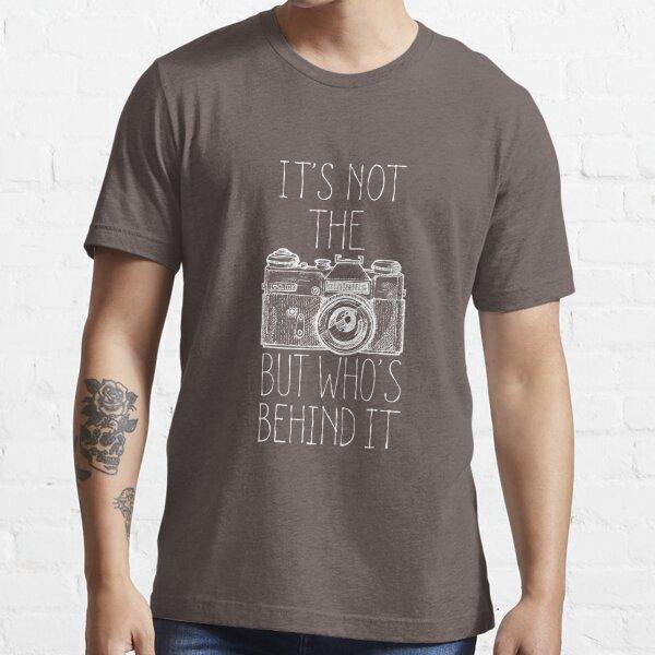 Tinta blanca de la cámara Camiseta esencial