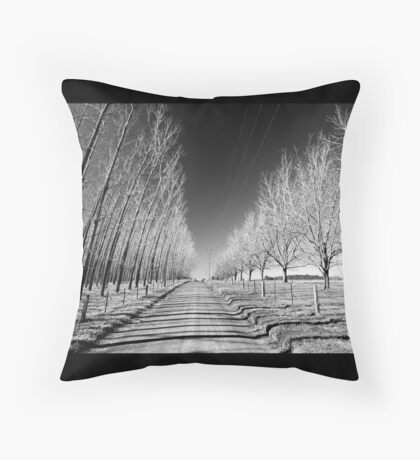 Tree lined  Throw Pillow