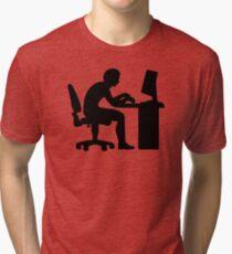 Office desk computer Tri-blend T-Shirt