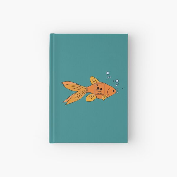 Gold Fish Hardcover Journal