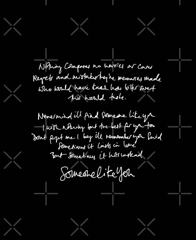Someone Like You Handwritten Lyrics Adele Ipad Case Skin By Daydreameruk Redbubble