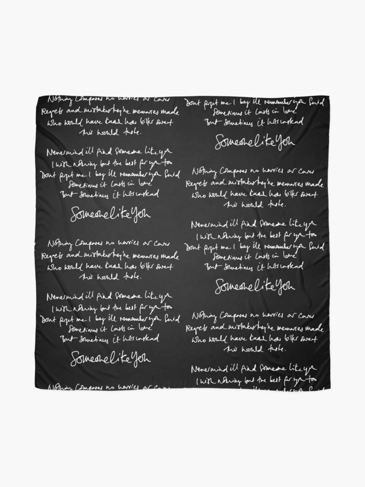 Someone Like You Handwritten Lyrics Adele Scarf By Daydreameruk Redbubble