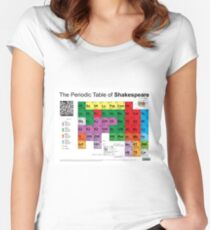 The Periodic Table of Shakespeare (v2) Women's Fitted Scoop T-Shirt