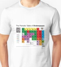 The Periodic Table of Shakespeare (v2) T-Shirt