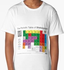 The Periodic Table of Shakespeare (v2) Long T-Shirt