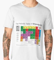 The Periodic Table of Shakespeare (v2) Men's Premium T-Shirt