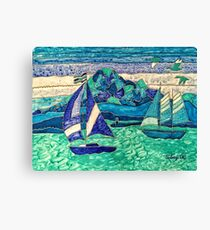 CUTE SAIL BOATS FUNNY QUOTE  Canvas Print