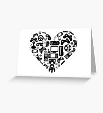 Video Game Heart Greeting Card