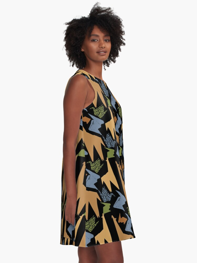 Alternate view of Origami Animal Pattern A-Line Dress