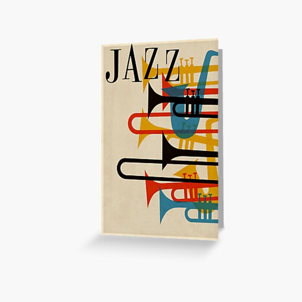 Jazz Grußkarte