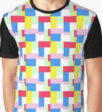 Simple Block Colour Pattern Graphic T-Shirt