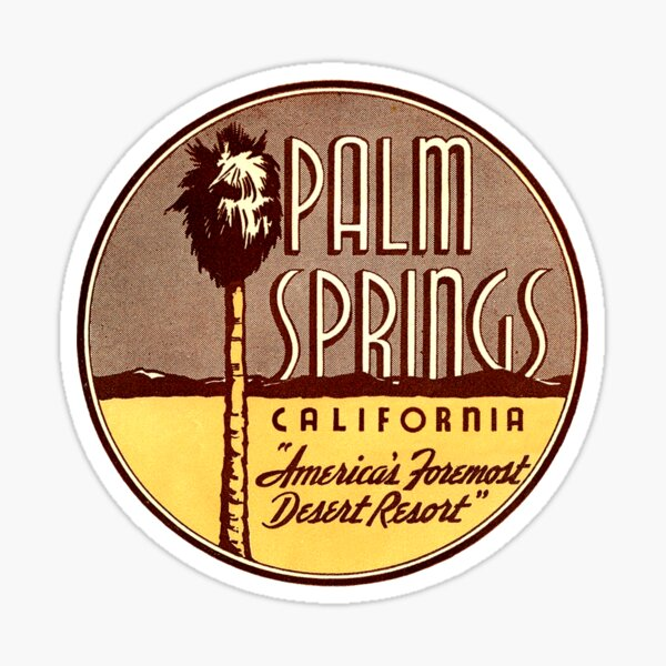 Palm Springs California Vintage Travel Decal Sticker