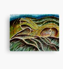 Girl in a Landscape Canvas Print