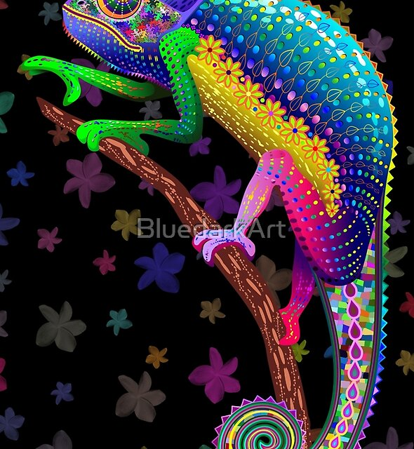«Chameleon Fantasy Rainbow Colors» de BluedarkArt