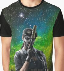 Galaxy Caveira Graphic T-Shirt