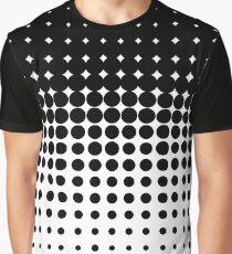 Gradient halftone dots (black to white) Graphic T-Shirt