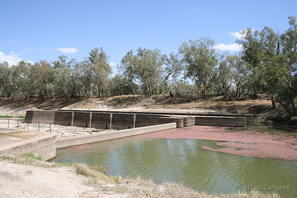 Bourke Weir During the big Drought. by Ross Campbell