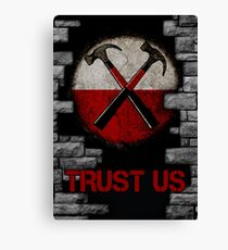 Roger Waters 'The Wall' - TRUST US Canvas Print