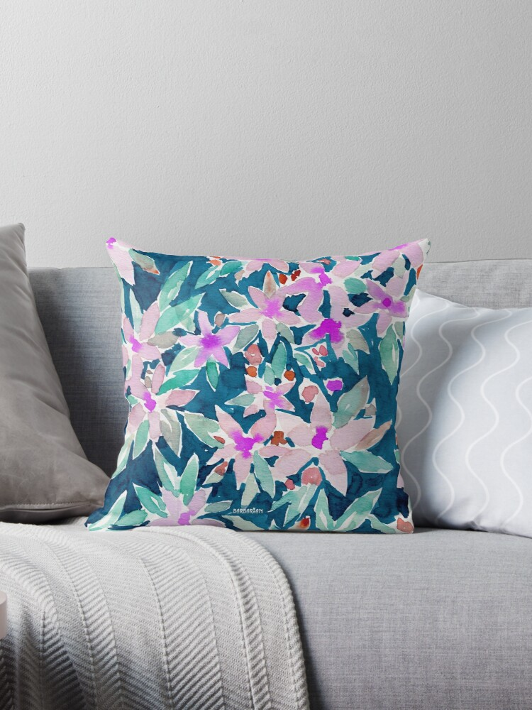 LET GO Tropical Watercolor Floral by Barbarian
