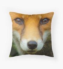 European Fox Cub Throw Pillow