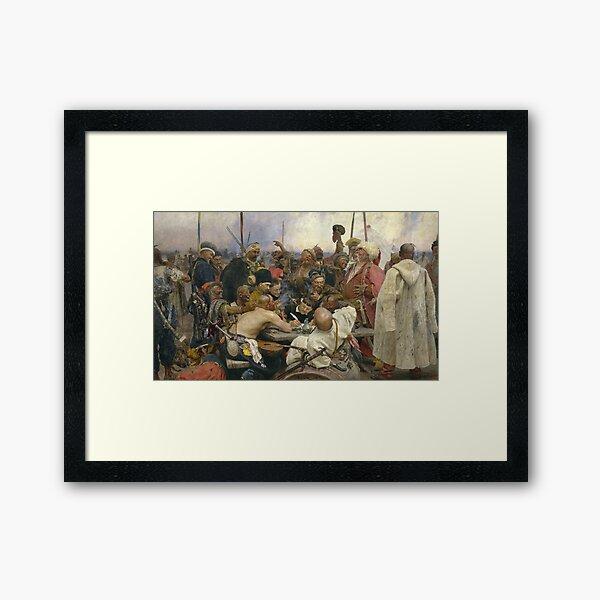 Ilya Repin Reply of the Zaporozhian Cossacks Framed Art Print