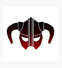 Skyrim Helmet (Red Gradient) Photographic Print