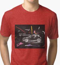 Scribble car on chalkboard Tri-blend T-Shirt