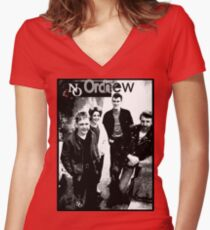 Joy Division New Order Low-life era band tee Women's Fitted V-Neck T-Shirt