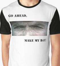 """""""Go ahead,make my day """" Clint Eastwood Graphic T-Shirt"""