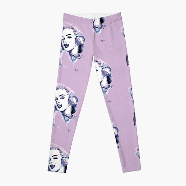 Marilyn Classic beauty Watercolor Art Leggings