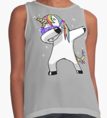 Dabbing Unicorn Shirt Dab Hip Hop Funny Magic Contrast Tank