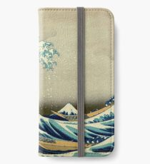 Hokusai, The Great Wave off Kanagawa, Japan, Japanese, Wood block, print iPhone Wallet/Case/Skin