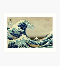Hokusai, The Great Wave off Kanagawa, Japan, Japanese, Wood block, print Art Print