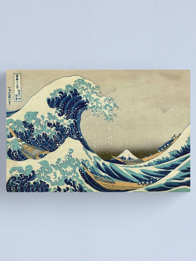 Alternate view of Hokusai, The Great Wave off Kanagawa, Japan, Japanese, Wood block, print. Canvas Print