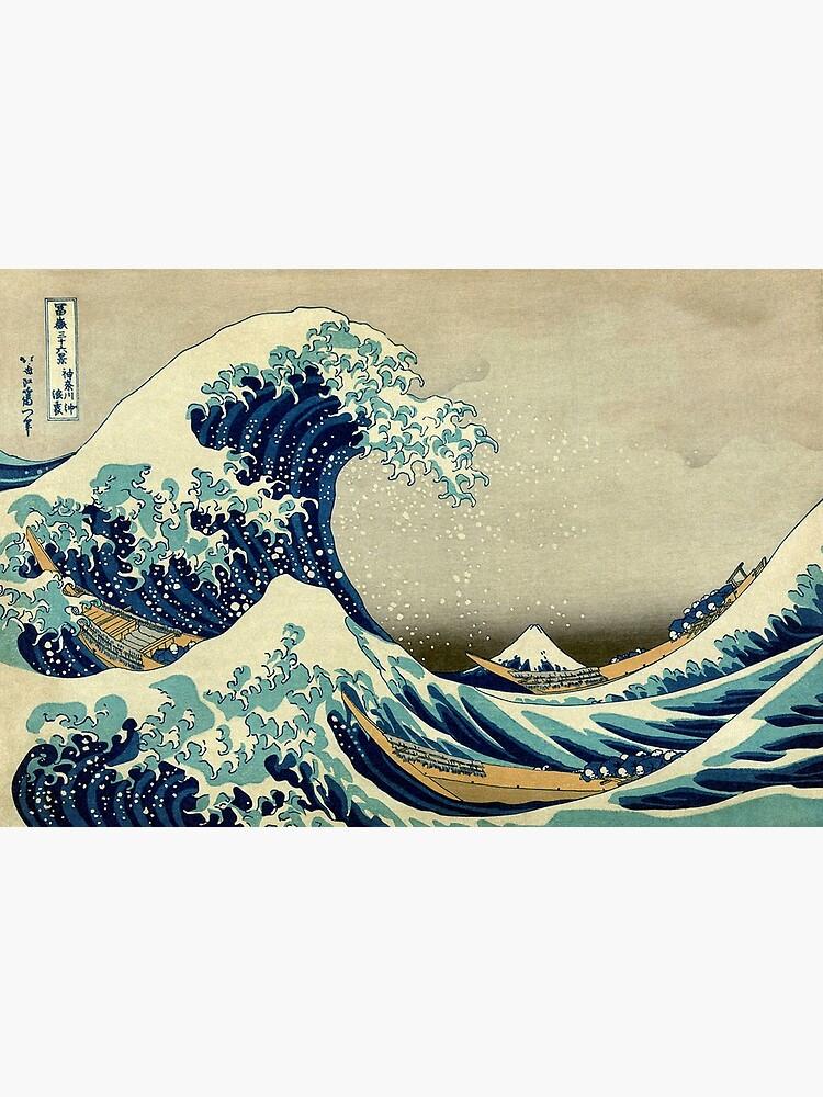 Hokusai, The Great Wave off Kanagawa, Japan, Japanese, Wood block, print. by TOMSREDBUBBLE