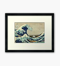 Hokusai, The Great Wave off Kanagawa, Japan, Japanese, Wood block, print Framed Print