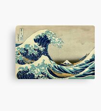 Hokusai, The Great Wave off Kanagawa, Japan, Japanese, Wood block, print Canvas Print