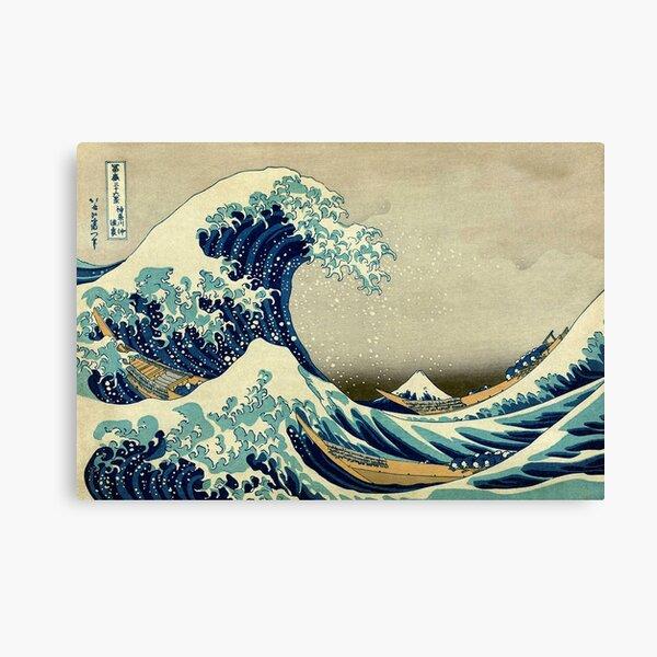 Hokusai, The Great Wave off Kanagawa, Japan, Japanese, Wood block, print. Canvas Print