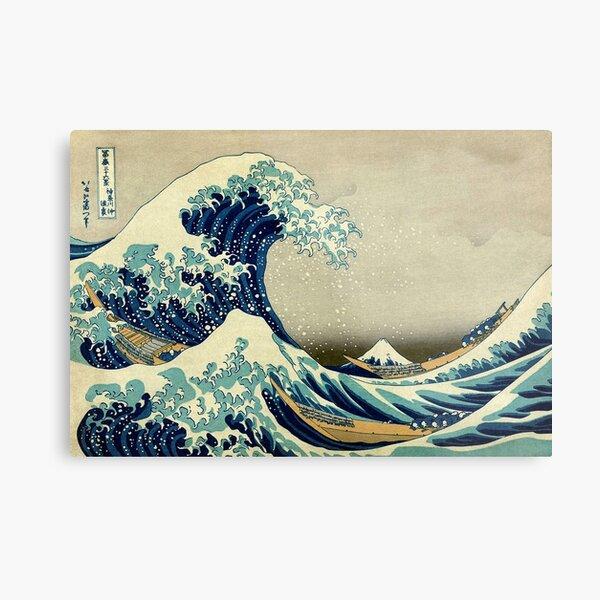 Hokusai, The Great Wave off Kanagawa, Japan, Japanese, Wood block, print. Metal Print