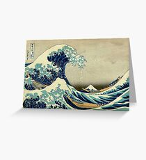 Hokusai, The Great Wave off Kanagawa, Japan, Japanese, Wood block, print Greeting Card
