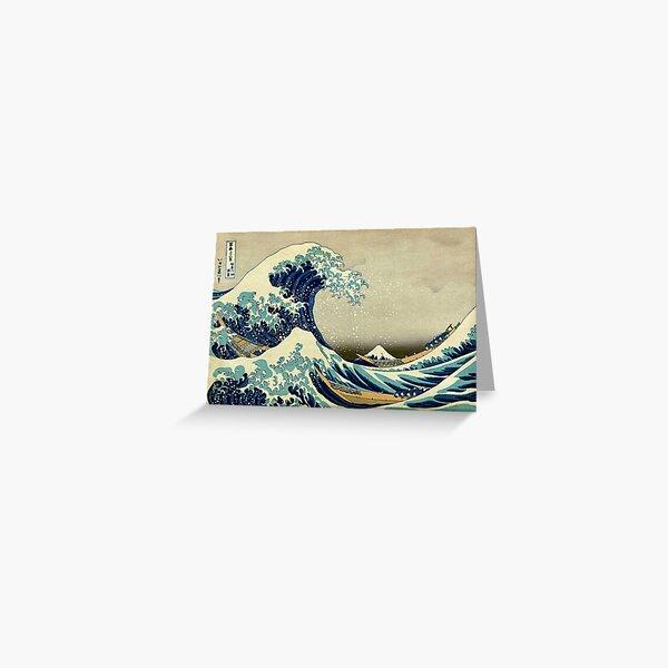 Hokusai, The Great Wave off Kanagawa, Japan, Japanese, Wood block, print. Greeting Card