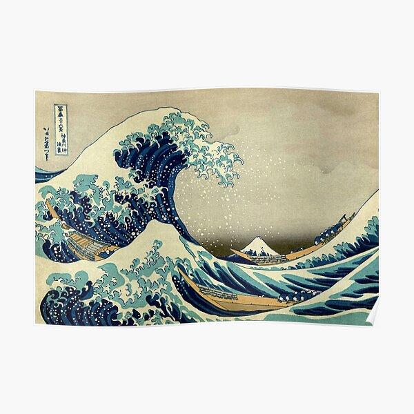 Hokusai, The Great Wave off Kanagawa, Japan, Japanese, Wood block, print. Poster