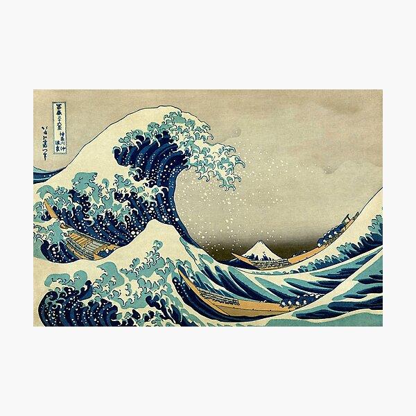 Hokusai, The Great Wave off Kanagawa, Japan, Japanese, Wood block, print. Photographic Print