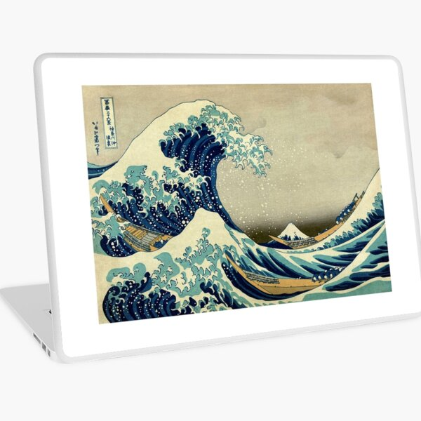 Hokusai, The Great Wave off Kanagawa, Japan, Japanese, Wood block, print. Laptop Skin