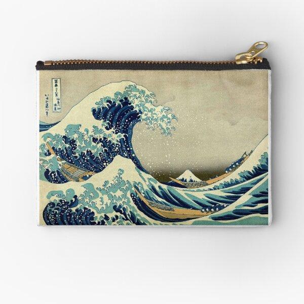 Hokusai, The Great Wave off Kanagawa, Japan, Japanese, Wood block, print. Zipper Pouch