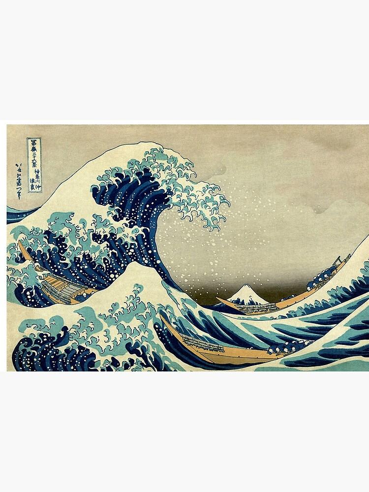 Hokusai, The Great Wave off Kanagawa, Japan, Japanese, Wood block, print by TOMSREDBUBBLE
