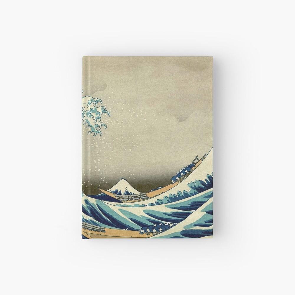 Hokusai, The Great Wave off Kanagawa, Japan, Japanese, Wood block, print Hardcover Journal