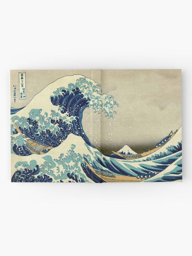 Alternate view of Hokusai, The Great Wave off Kanagawa, Japan, Japanese, Wood block, print Hardcover Journal