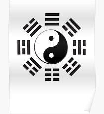 YIN YANG, Yin & Yang, I Ching, China, Chinese, Martial Arts, MMA, BLACK Poster
